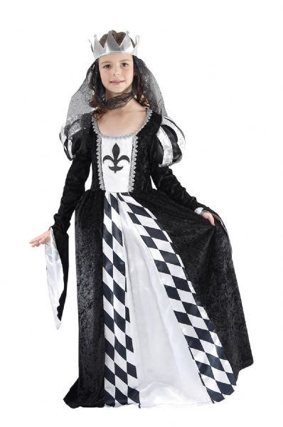 Girls Chess Queen Costume Royal Regal Ruler Leader Fancy Dress Outfit